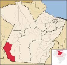 Localização de Jacareacanga dentro do Estado do Pará